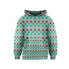 Large Circle Rainbow Dots Color Red Blue Pink Kids  Pullover Hoodie