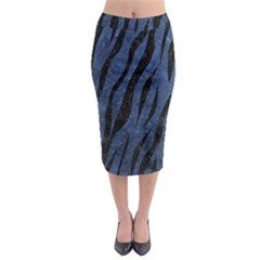 SKN3 BK-MRBL BL-STONE (R) Midi Pencil Skirt