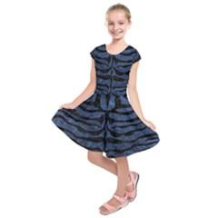 SKN2 BK-MRBL BL-STONE (R) Kids  Short Sleeve Dress