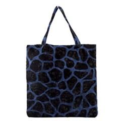SKN1 BK-MRBL BL-STONE (R) Grocery Tote Bag