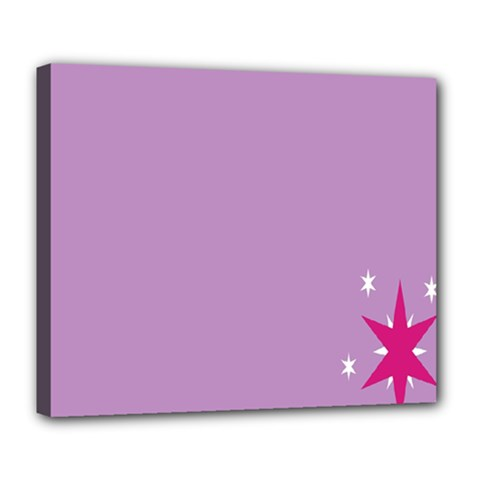 Purple Flagred White Star Deluxe Canvas 24  x 20