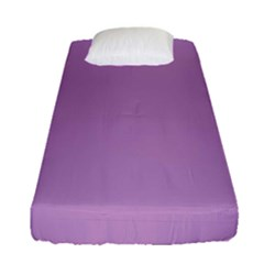Purple Flagred White Star Fitted Sheet (single Size)