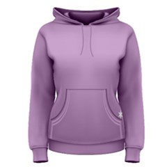 Purple Flagred White Star Women s Pullover Hoodie
