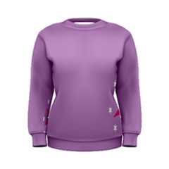Purple Flagred White Star Women s Sweatshirt