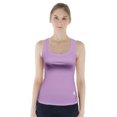 Purple Flagred White Star Racer Back Sports Top