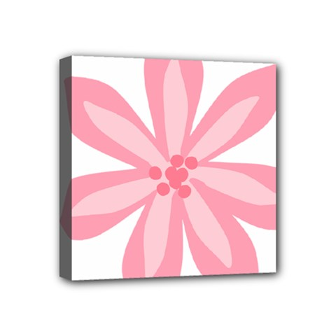 Pink Lily Flower Floral Mini Canvas 4  x 4