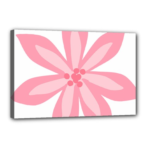 Pink Lily Flower Floral Canvas 18  x 12