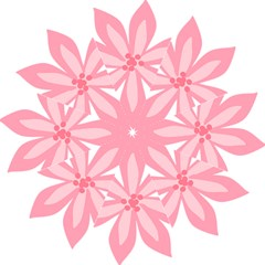 Pink Lily Flower Floral Straight Umbrellas
