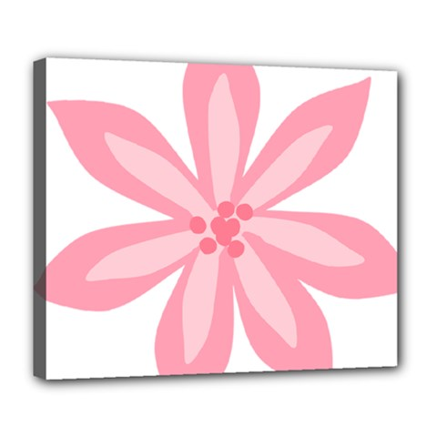 Pink Lily Flower Floral Deluxe Canvas 24  x 20