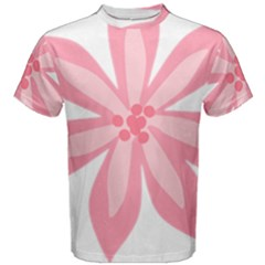 Pink Lily Flower Floral Men s Cotton Tee