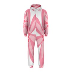 Pink Lily Flower Floral Hooded Jumpsuit (Kids)