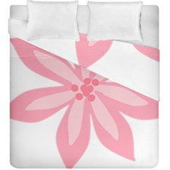 Pink Lily Flower Floral Duvet Cover Double Side (king Size)