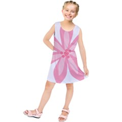 Pink Lily Flower Floral Kids  Tunic Dress