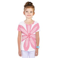 Pink Lily Flower Floral Kids  One Piece Tee