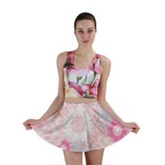 Flower Floral Sunflower Rose Pink Mini Skirt