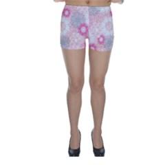 Flower Floral Sunflower Rose Pink Skinny Shorts