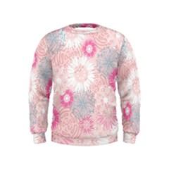 Flower Floral Sunflower Rose Pink Kids  Sweatshirt