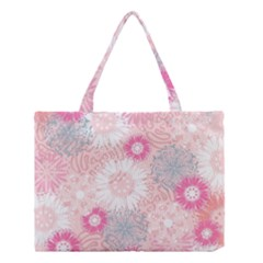 Flower Floral Sunflower Rose Pink Medium Tote Bag