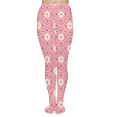 Pink Flower Floral Women s Tights