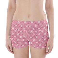 Pink Flower Floral Boyleg Bikini Wrap Bottoms