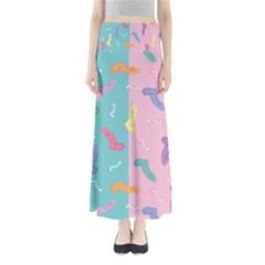 Socks Kids Blue Pink Yellow Purple Green Rainbow Maxi Skirts