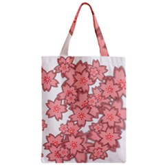 Flower Floral Pink Zipper Classic Tote Bag