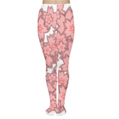 Flower Floral Pink Women s Tights