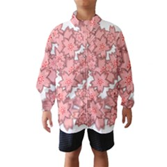 Flower Floral Pink Wind Breaker (kids)