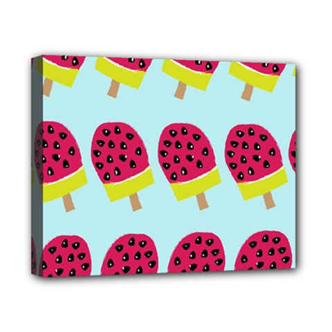 Watermelonn Red Yellow Blue Fruit Ice Canvas 10  x 8