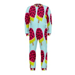 Watermelonn Red Yellow Blue Fruit Ice OnePiece Jumpsuit (Kids)