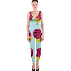 Watermelonn Red Yellow Blue Fruit Ice OnePiece Catsuit