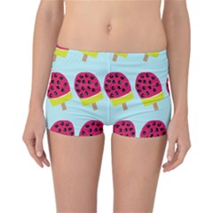 Watermelonn Red Yellow Blue Fruit Ice Reversible Bikini Bottoms