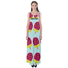 Watermelonn Red Yellow Blue Fruit Ice Empire Waist Maxi Dress