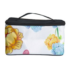 Rose Flower Floral Blue Yellow Gold Butterfly Animals Pink Cosmetic Storage Case