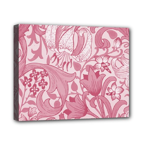 Vintage Style Floral Flower Pink Canvas 10  x 8