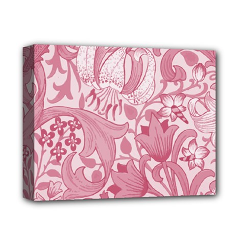 Vintage Style Floral Flower Pink Deluxe Canvas 14  X 11