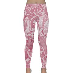 Vintage Style Floral Flower Pink Classic Yoga Leggings