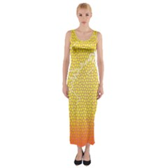 Exotic Backgrounds Fitted Maxi Dress