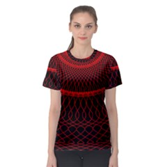 Red Spiral Featured Women s Sport Mesh Tee