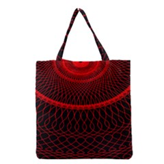 Red Spiral Featured Grocery Tote Bag