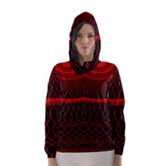 Red Spiral Featured Hooded Wind Breaker (women)