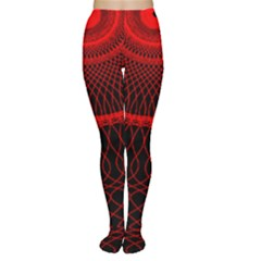Red Spiral Featured Women s Tights