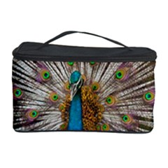 Indian Peacock Plumage Cosmetic Storage Case