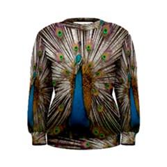 Indian Peacock Plumage Women s Sweatshirt