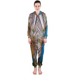 Indian Peacock Plumage Hooded Jumpsuit (ladies)