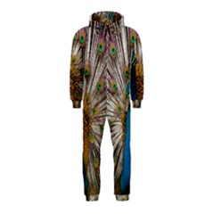 Indian Peacock Plumage Hooded Jumpsuit (Kids)