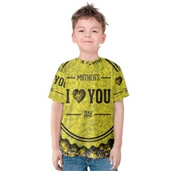 Happy Mother Day Kids  Cotton Tee