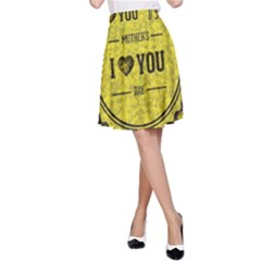 Happy Mother Day A Line Skirt