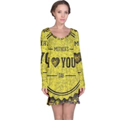 Happy Mother Day Long Sleeve Nightdress