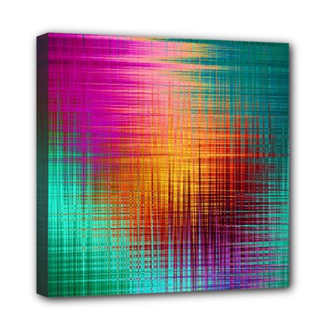 Colourful Weave Background Mini Canvas 8  x 8